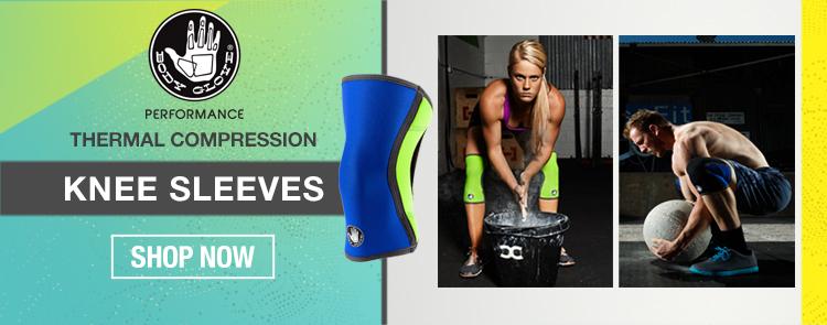 Thermal compression knee sleeves